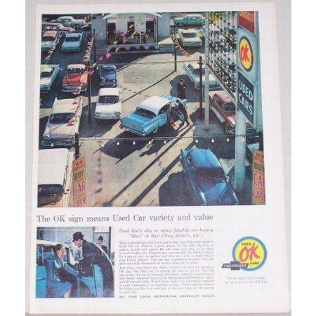 1961 Chevrolet Used Cars OK Color Print Ad