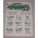 1949 Chevrolet Styleline Deluxe 4Dr Sedan Automobile Color Print Car Ad