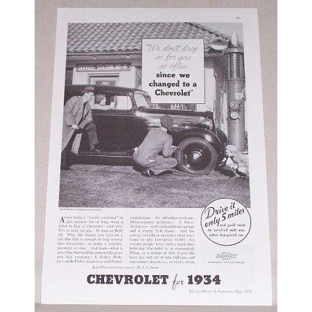 1934 Chevrolet Master Six Coach Automobile Vintage Print Car Ad