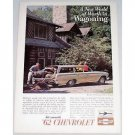 1962 Chevrolet Bel Air Station Wagon Automobile Color Print Car Ad