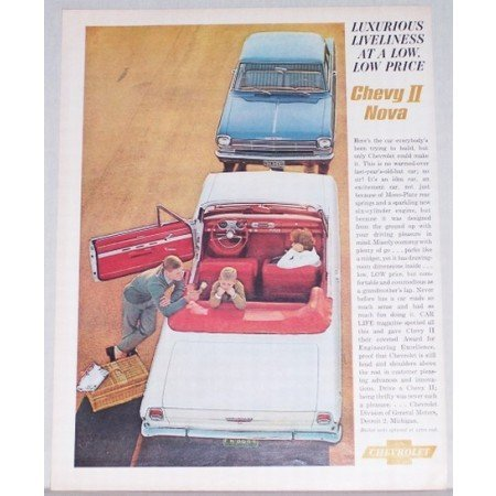 1962 Chevrolet Chevy II Nova Automobile Color Print Car Ad