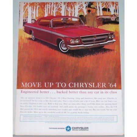 1964 Chrysler 300 2 Door Hardtop Automobile Color Print Car Ad