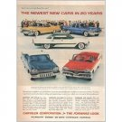 1957 Chrysler Corp 5 Models Automobile Color Print Car Ad