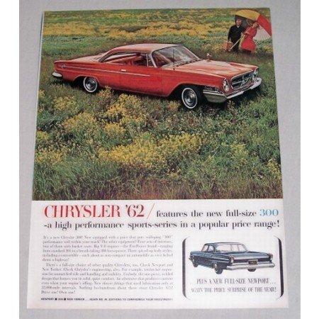 1962 Chrysler 300 2DR Hardtop Automobile Color Print Car Ad