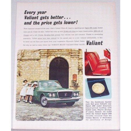 1962 Valiant Signet 200 Automobile Color Print Car Ad
