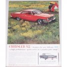1962 Chrysler 300 2 Door Automobile Color Print Car Ad