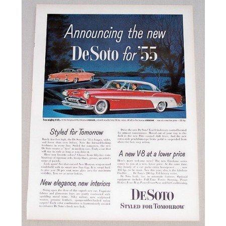 1955 DeSoto Firelite Automobile Color Print Car Ad