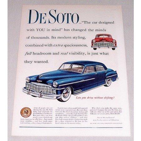 1949 DeSoto Custom 4 Door Auto Car Ad