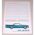 1961 DeSoto 2DR Hardtop Automobile Color Print Car Ad