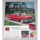 1959 De Soto Fireflite 2DR Hardtop Automobile Color Print Car Ad