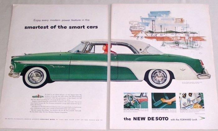 1955 DeSoto De Soto Fireflite Sportsman Automobile Color Print Car Ad