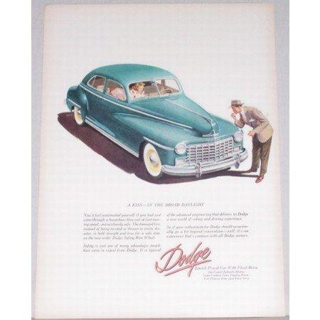 1948 Dodge Sedan Automobile Color Print Car Ad - Kiss In Broad Daylight
