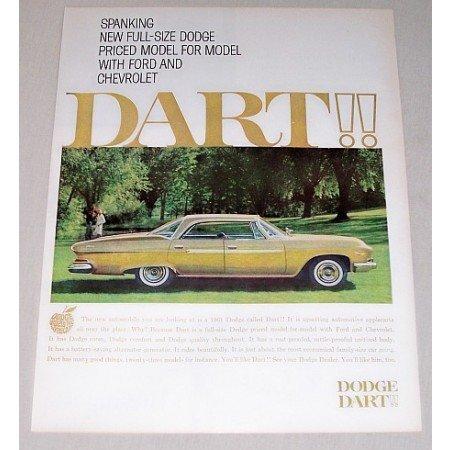 1961 Dodge Dart Automobile Color Print Car Ad