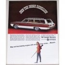 1966 Dodge Monaco Station Wagon Automobile Color Print Car Ad