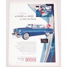 1954 Dodge Royal Sedan Automobile Color Print Car Ad