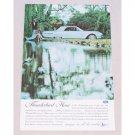 1961 Ford Thunderbird Automobile Color Print Car Ad - T-Bird Hour