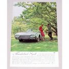 1961 Ford Thunderbird Automobile Color Print Car Ad - T-Bird Spell