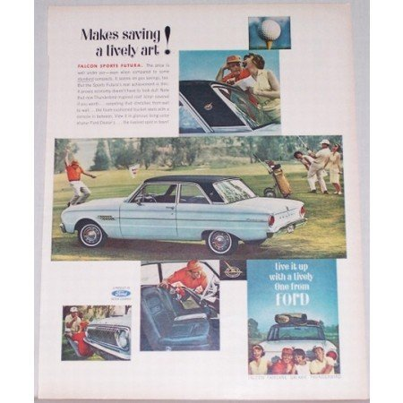 1962 Ford Falcon Sports Futura Automobile Color Print Car Ad