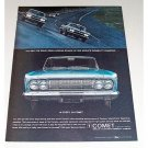 1964 Ford Comet Automobile Color Print Car Ad