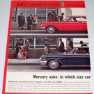 1961 Color 2 Page Car Ad for 1962 Mercury Comet Monterey Automobile