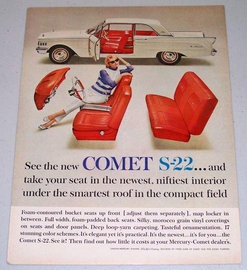 1962 Mercury Comet S-22 Automobile Color Print Car Ad