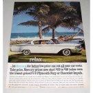 1960 Mercury Monterey Automobile Dorado Beach Color Print Car Ad