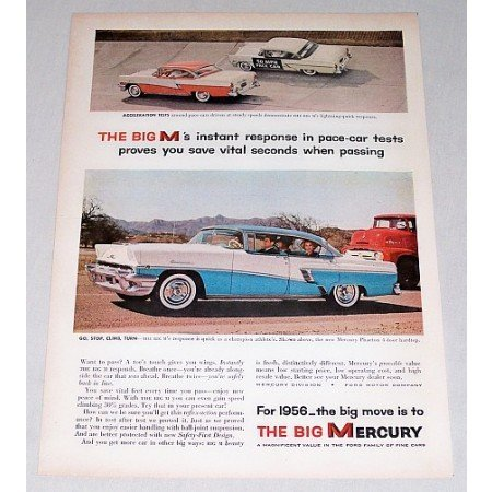 1956 Mercury Phaeton 4 Door Hardtop Automobile Color Print Car Ad