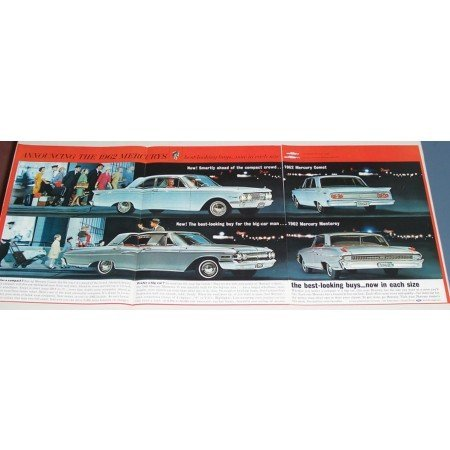 1962 Mercury Comet Monterey Automobile 3 Page Color Print Car Ad