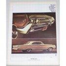 1964 Mercury Marauder Automobile Color Print Car Ad