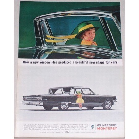 1963 Mercury Monterey Automobile Color Print Car Ad - New Window Idea