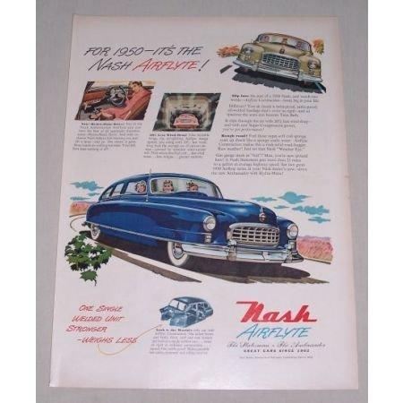 1949 Color Print Car Ad for 1950 Nash Ambassador Automobile