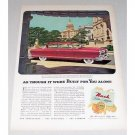 1952 Nash Ambassador Custom 2 Door Automobile Color Print Car Ad