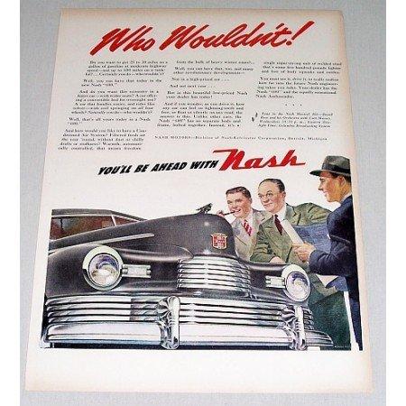 1946 Nash Automobile Color Print Car Art Ad - Who Wouldn't