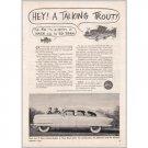 1952 Nash Airflytes Automobile Series #36 Ed Zern Art Vintage Print Car Ad Ad