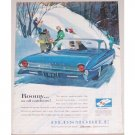 1961 Oldsmobile 98 Automobile Color Winter Art Print Car Ad