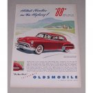 1949 Oldsmobile Futuramic 4DR Sedan Automobile Color Print Car Ad
