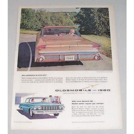 1960 Oldsmobile Super 88 Holiday Scenicoupe Automobile Color Print Car Ad