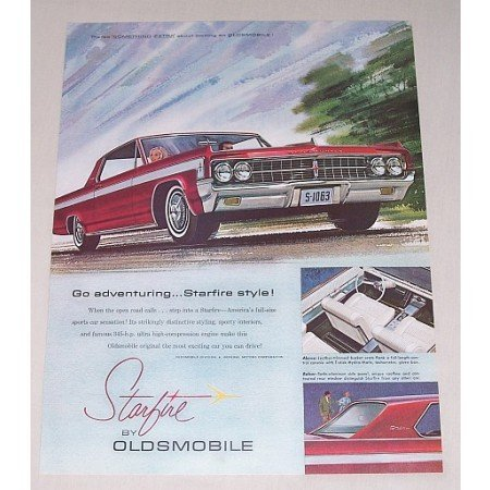 1963 Oldsmobile Starfire Automobile Color Print Car Ad