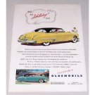 1949 Oldsmobile Holiday Coupe Automobile Color Print Car Ad