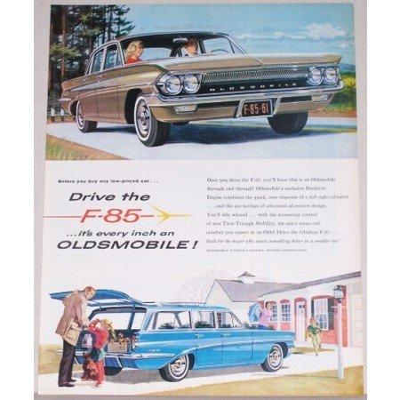 1961 Oldsmobile F-85 Automobile Color Print Car Ad