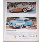 1957 Studebaker Packard Automobile Color Print Car Ad