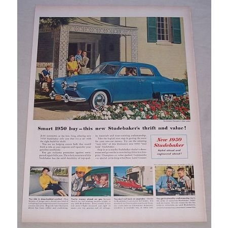 1950 Studebaker Champion 4DR Sedan Automobile Color Print Car Ad