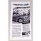 1941 Studebaker Champion Sedan Automobile Vintage Print Car Ad