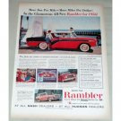 1956 RAMBLER Custom 4DR Hardtop Automobile Color Print Car Ad