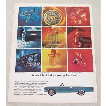 1965 Rambler Ambassador 990 Convertible Automobile Color Print Car Ad
