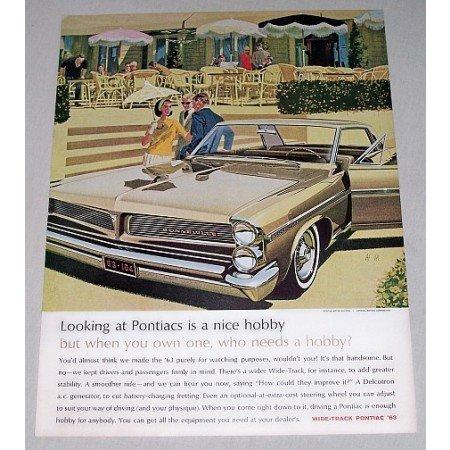 1963 Pontiac Bonneville Automobile Color Print Car Ad - Nice Hobby