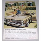 1963 Pontiac Bonneville Automobile Color Print Car Ad - Nice Hobby