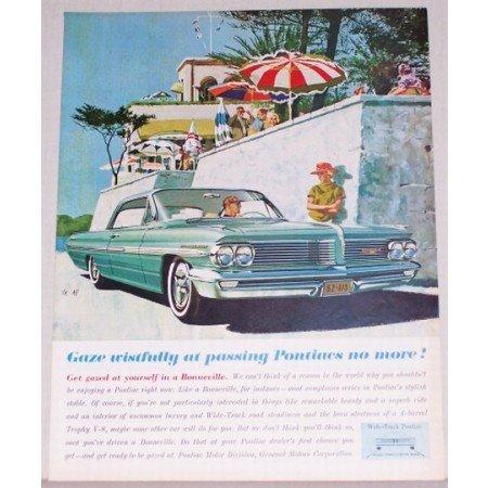 1962 Pontiac Bonneville 2 Door Automobile Color Print Car Ad