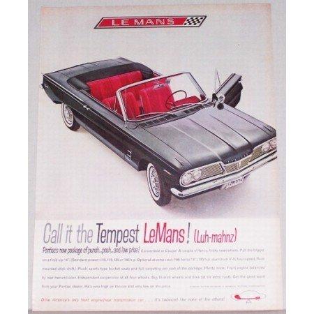 1962 Pontiac Tempest Le Mans Convertible Automobile Color Print Car Ad
