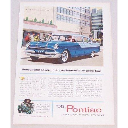 1955 Pontiac Sedan Automobile Car Automobile Color Print Car Ad